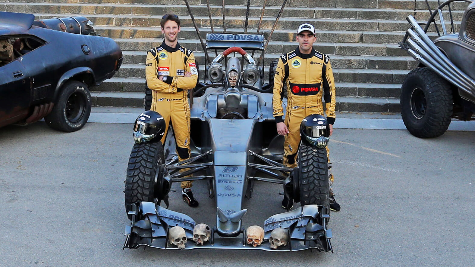The new car - the Lotus F1 Team Mad Max Hybrid