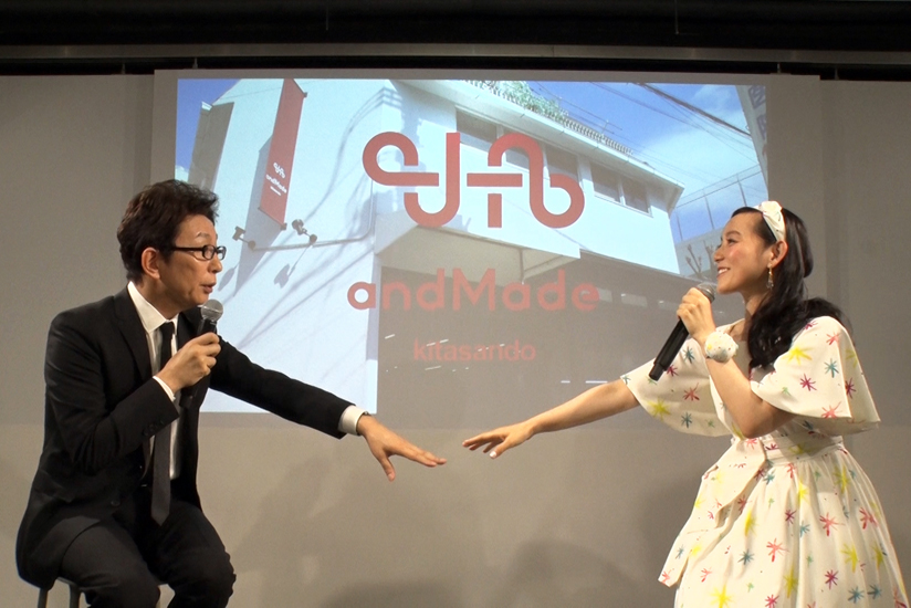 Mr. Furutachi and Ms. Shinohara discussed fashion and the items they wanted to create at andMade.