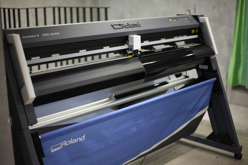 Patterns for apparel can now be cut digitally using a vinyl cutter.