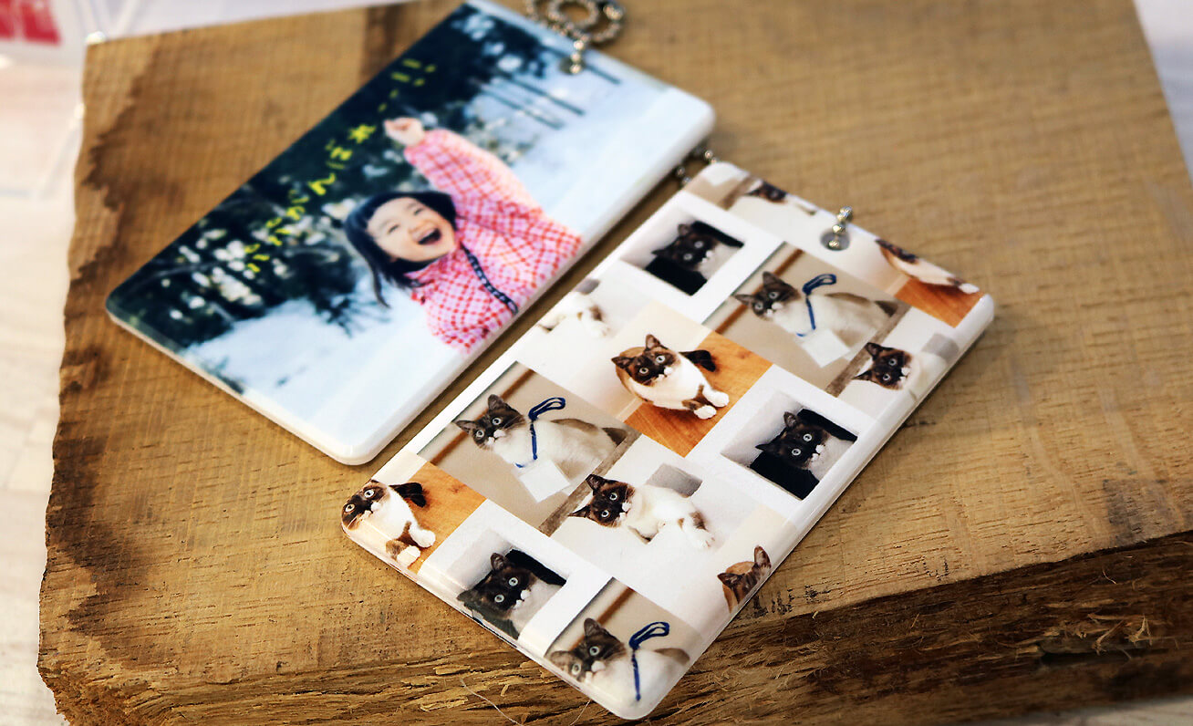 Stylish, one-of-a-kind commuter pass holders created from customer photos.