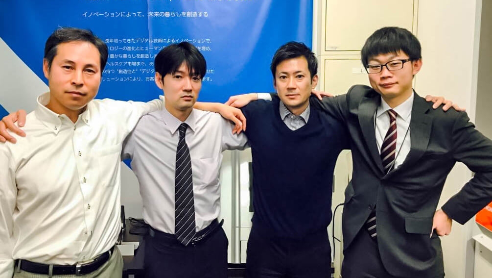 One of the finalists representing the Asia-Pacific region, Tsubasa Utsumi (The second person from the left)