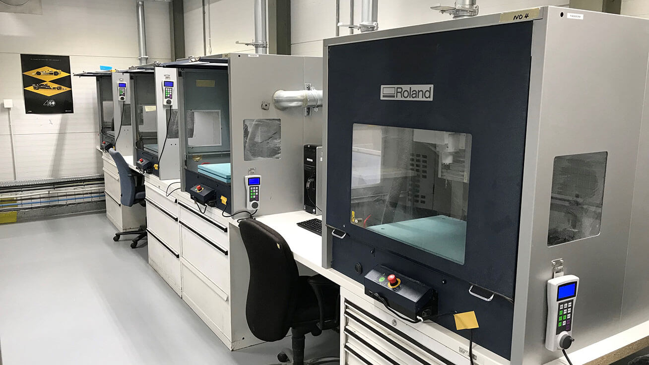 Four MDX-540 mills are installed at their Technical Centre.