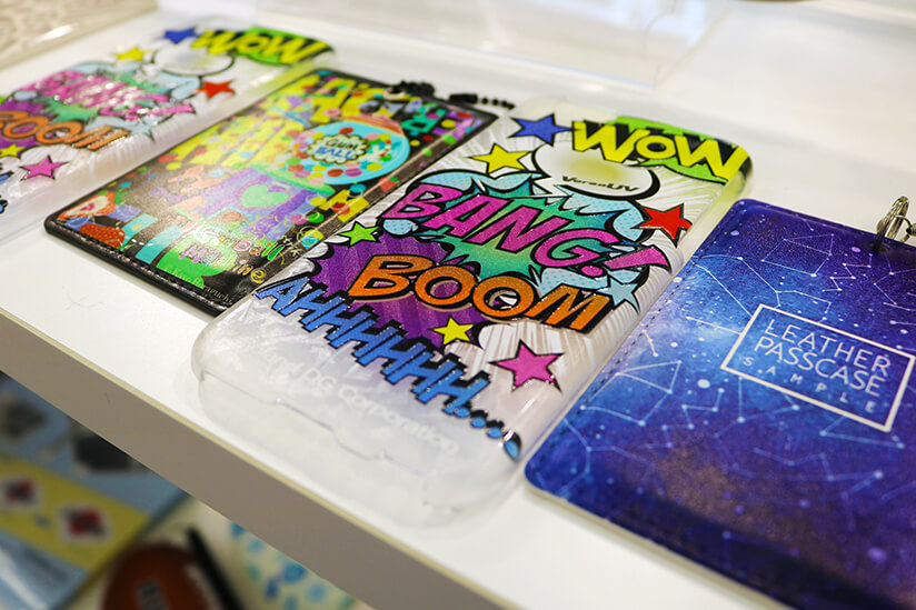 Some samples of printed goods using the UV printer