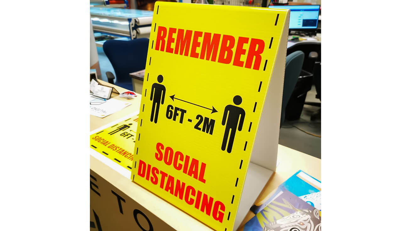 Social distancing signs Printology Digital produced