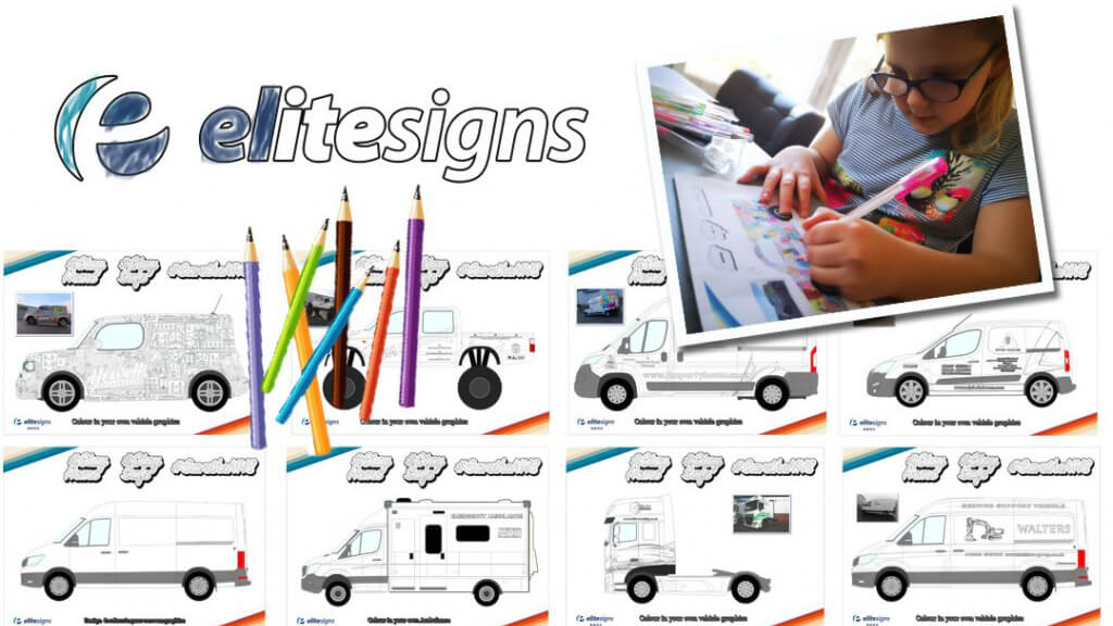 Elite Signs produced sheets with ambulance designs for children to color-in.