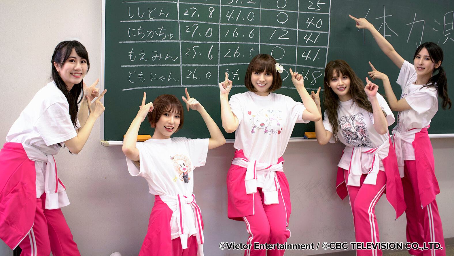 The members of voice actress-girl band PsyChe wore custom-made T-shirts printed with the Roland DG BT-12 direct-to-garment printer.