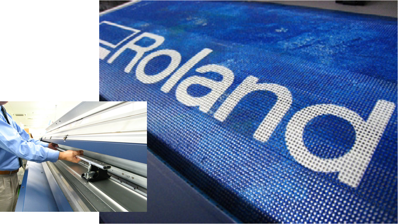 Roland AdvancedJET AJ-1000 Features New Mesh Printing Unit