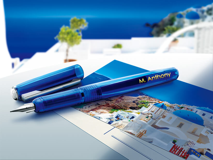 The LD-80 is perfect for adding upscale personalization to one-off items like fountain pens and stationery.
