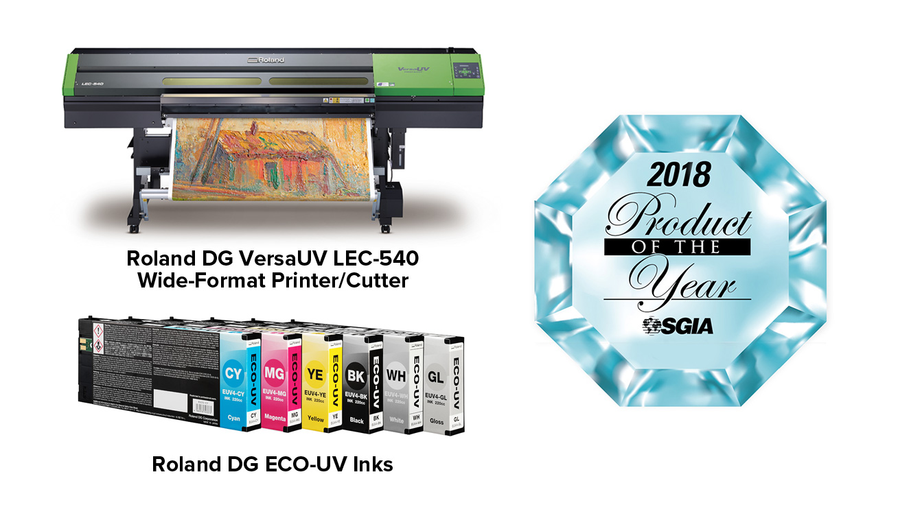 Roland DG VersaUV LEC-540 printer/cutter and ECO-UV ink