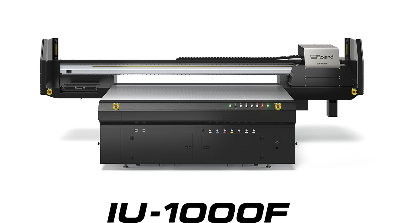 IU-1000F large-format UV-LED flatbed printer