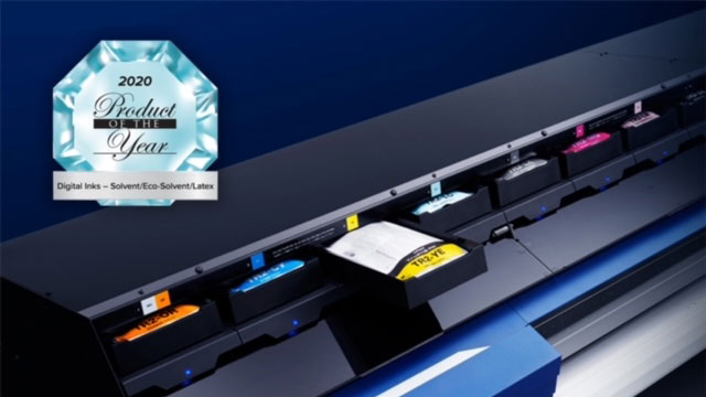 Alt TrueVIS TR2 ink wins 2020 Printing United Alliance Product of the Year award.