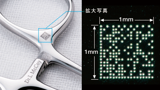 2D Symbol Imprinted on Medical Instruments